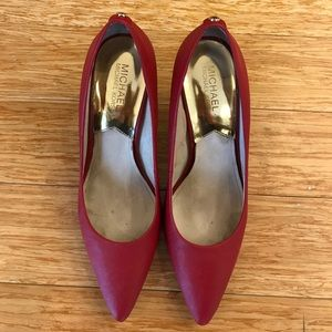 Michael Kors Red Pumps Size 9